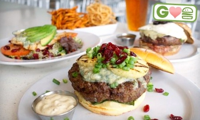 The Counter - West Woodland: $10 for $20 Worth of Gourmet Custom Burgers at The Counter