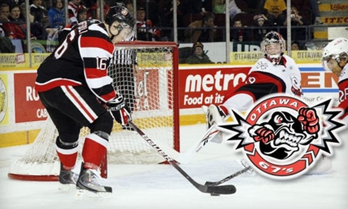 Ottawa 67's Hockey Club - Glebe - Dows Lake: $30 for Two Tickets and Two Exclusive Team Hats from Ottawa 67's Hockey Club ($68 Value)