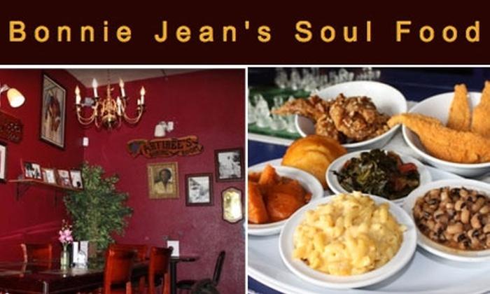 Bonnie Jean's Soul Food Cafe - Oak Park: $15 for $30 Worth of Delicious Soul Favorites at Bonnie Jean's Soul Food Cafe