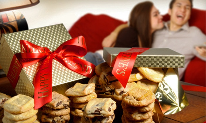 Assorted Valentine's Day Cookies: $24 for a Little Bit Of Love or a Key To Your Heart Gift-Wrapped Valentine's Day Cookie Box ($58 Value)