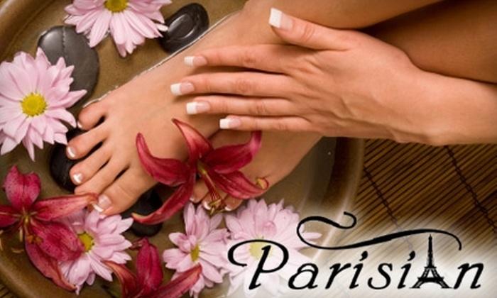 Parisian Nail and Massage Spa - Regency: $25 for a Manicure and Hot Stone Pedicure at Parisian Nail and Massage Spa ($55 Value)