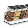 Spice Rack with 6 Glass Jars