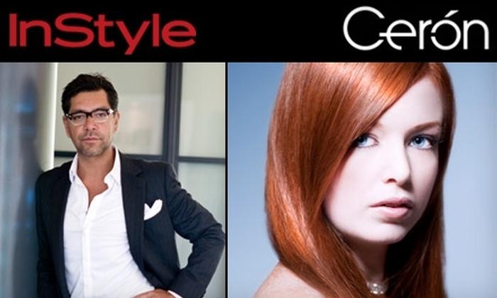 Cerón Salon - Multiple Locations: $135 for a Haircut, Blow Dry, Mani-Pedi, and Makeup Application at Cerón Salon