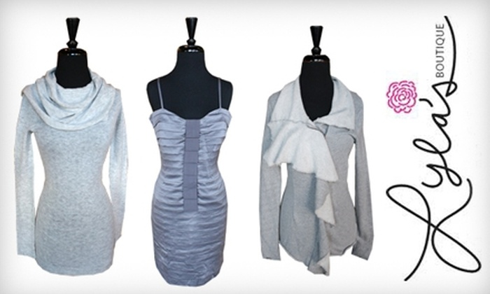 Lyla's Boutique - Multiple Locations: $25 for $50 Worth of Apparel at Lyla's Boutique. Choose from Three Locations.