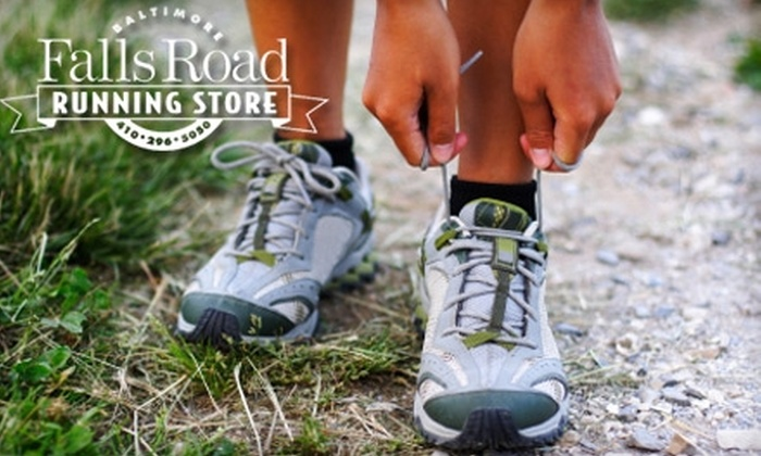 Falls Road Running Store - Towson: $40 for $80 Worth of Shoes, Apparel, and Accessories at Falls Road Running Store