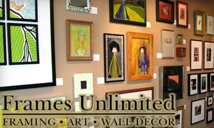 Half Off Frames At Frames Unlimited Frames Unlimited Groupon