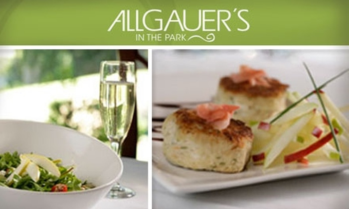Allgauer's - Park Place: $20 for $40 Worth of American Fare at Allgauer's