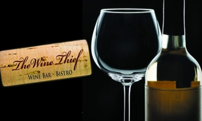 The Wine Thief - Bryant: $20 for $40 Worth of Bistro Fare and Wine at The Wine Thief