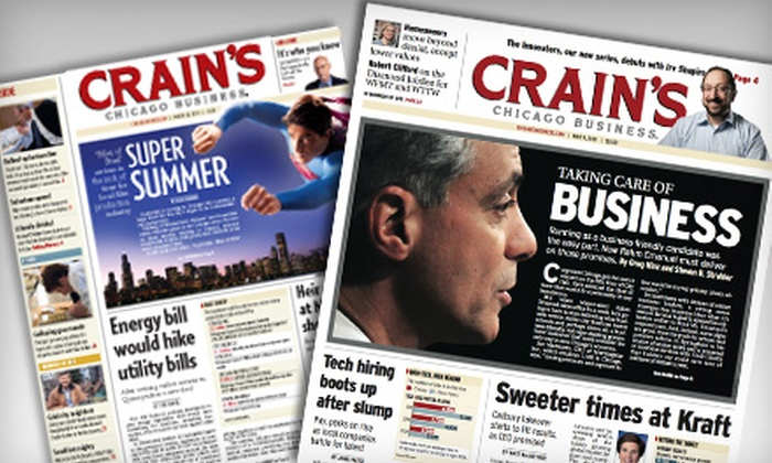 "Crain's Chicago Business - Multiple Locations: $35 for a One-Year ""Crain's Chicago Business"" Print and Online Subscription ($99 Value)"