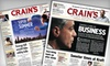 """Crain's Chicago  Business - Multiple Locations: $35 for a One-Year """"Crain's Chicago Business"""" Print and Online Subscription ($99 Value)"""