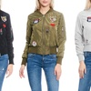Women's Patch-Embellished Lightweight Bomber Jacket