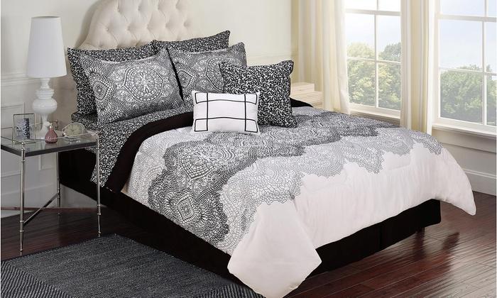 jessica mcclintock jacqueline 10piece comforter set jessica mcclintock jacqueline 10piece comforter - Jessica Mcclintock Bedroom Furniture