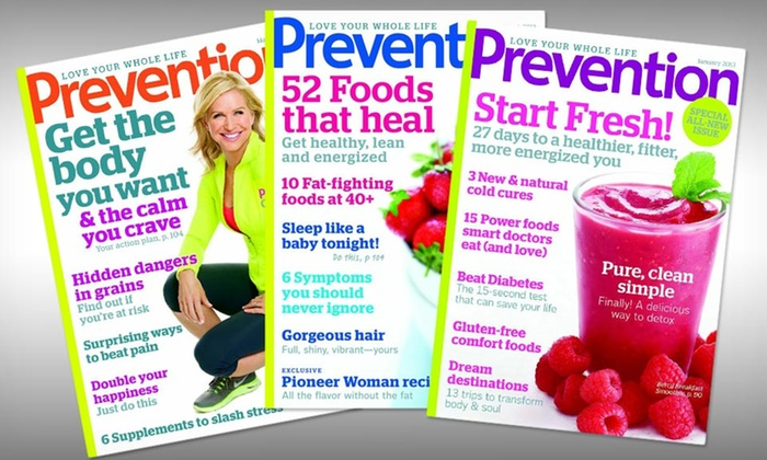 Prevention Magazine Subscription: 1-Year, 12-Issue or 2-Year, 24-Issue Subscription to Prevention Magazine (Half Off). Free Shipping.