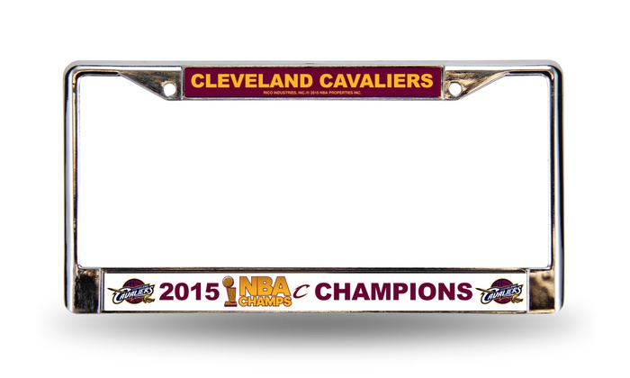 Cleveland Cavaliers 2015 NBA Champions Chrome License-Plate Frame ...