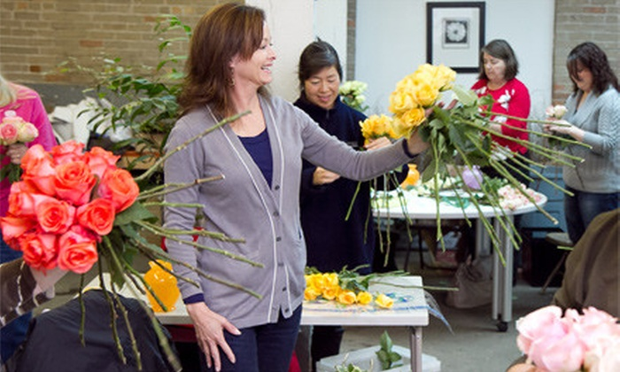 Chicago School of Flower Design - West Town: $79 for a Three-Hour Flower-Arranging Class with Take-Home Bouquet at Chicago School of Flower Design ($200 Value)