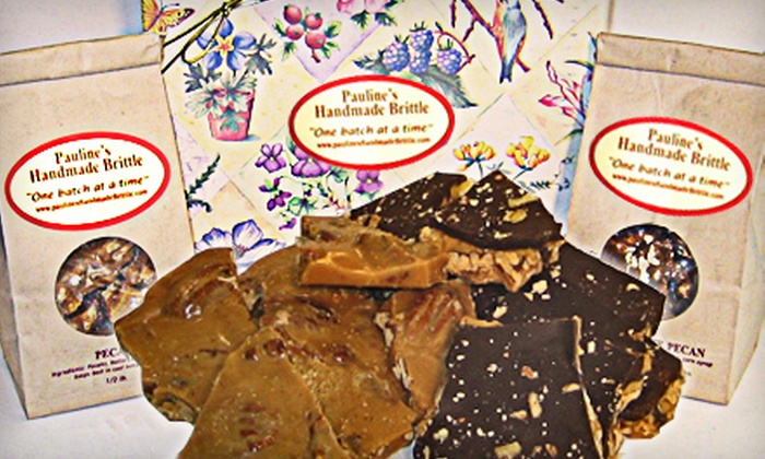 Pauline's Handmade Brittle - Burbank: $13 for 1-Pound Box of House-Made Pecan and Dark-Chocolate Brittle at Pauline's Handmade Brittle ($27.50 Value)
