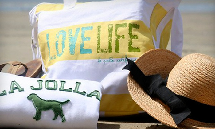 Blue Apparel - Village: Clothing and Accessories at Blue Apparel in La Jolla (Half Off). Two Options Available.