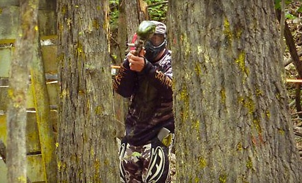 Skyline Paintball: All-Day Equipment Rental for Two, 500 Paintballs, and 2 Pouch Carriers - Skyline Paintball in Strasburg