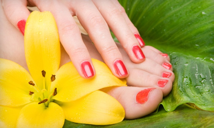 Metro Nails - Hillcrest: Spa Manicure and Pedicure or Shellac Manicure at Metro Nails