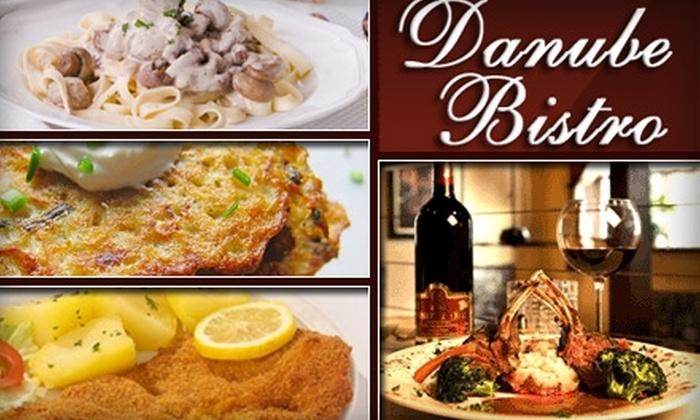 Danube Bistro - Northwest Bellevue: $12 for $25 Worth of European Comfort Cuisine and Drinks at Danube Bistro in Bellevue