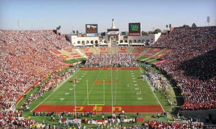 USC Trojans - South Central LA: Two or Four Tickets to the USC Trojans Football Game at Los Angeles Memorial Coliseum on November 12 at 12:30 p.m. (Half Off)