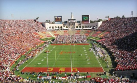 USC Trojans vs. Washington Huskies on Sat., Nov. 12 at 12:30PM: West End-Zone Seating for Two - USC Trojans in Los Angeles
