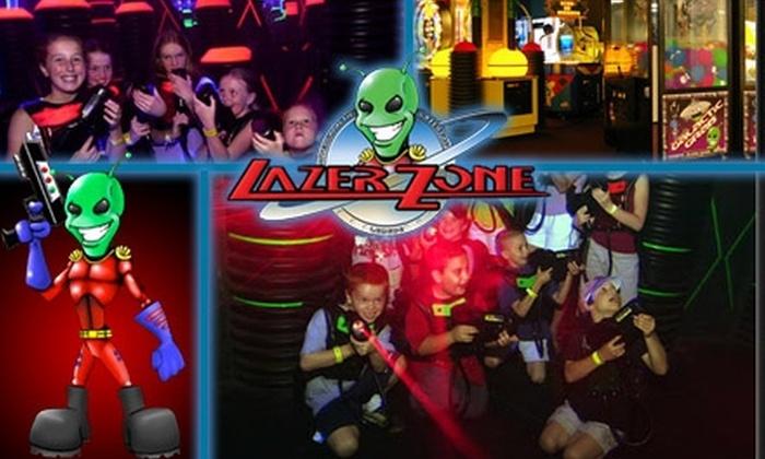 LazerZone - Marlborough: $10 Unlimited Laser Tag for a Day at LazerZone ($20 Value)