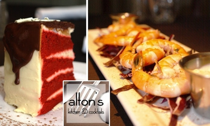 Alton's Kitchen & Cocktails - Cornelius: $25 for $50 Worth of Steaks, Cocktails, and More at Alton's Kitchen & Cocktails
