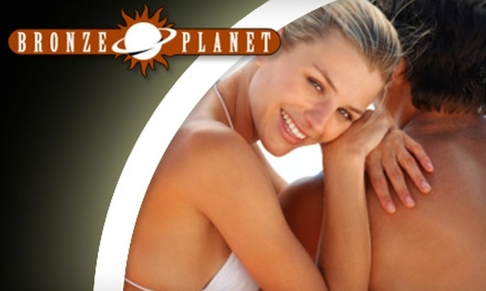 Bronze Planet - Multiple Locations: $19 for a One-Month Membership or Two Spray Tans at Bronze Planet
