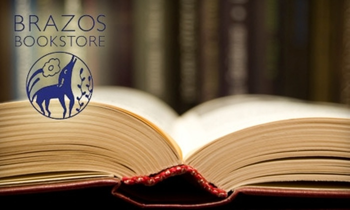 Brazos Bookstore - University Place: $15 for $30 Worth of Books and More at Brazos Bookstore