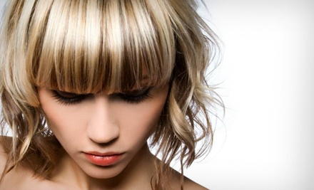 Haircut, Blow-Dry, Deep-Conditioning Treatment, and Glass of Wine (a $120 value) - Studio 12 in Hoboken