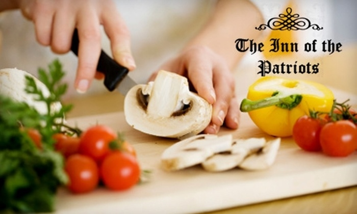 Inn of the Patriots - Charlotte: $100 for Class and Tour with Former White House Chef at The Inn of the Patriots in Grover, NC ($250 Value)