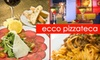 Ecco PizzaTeca and Lounge - CLOSED - Downtown Miami: $12 for $25 Worth of Italian Fare and Drinks at Ecco PizzaTeca & Lounge