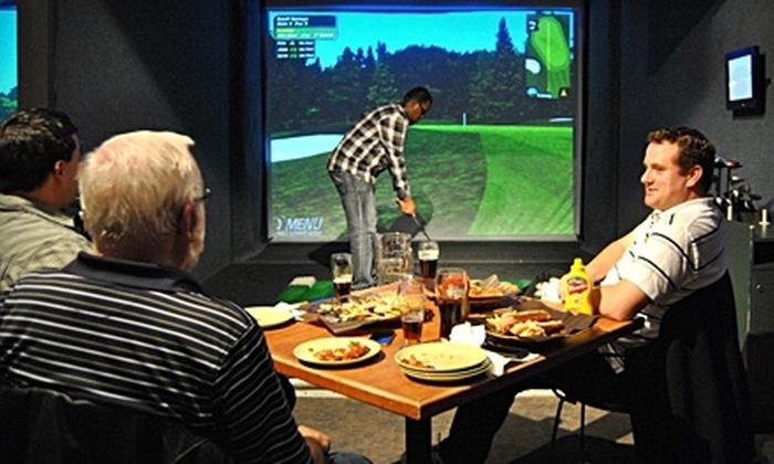 Golf -O-Max - Iris: $15 for Virtual Golf at Golf-O-Max (Up to $32 Value)