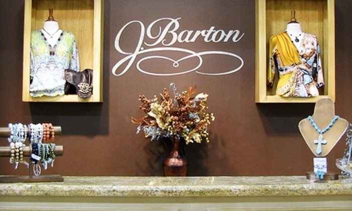 J. Barton Clothiers - Katy: $35 for $75 Worth of Designer Apparel and Accessories at J. Barton Clothiers in Katy