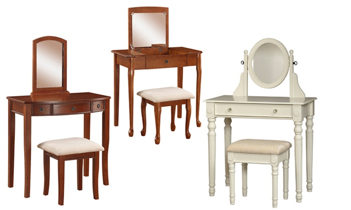 linon home decor lorraine vanity set 2 vanity sets groupon goods 13515