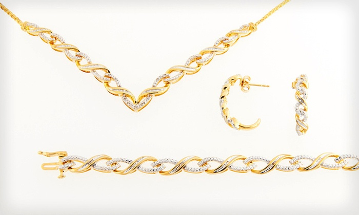 Infinity Diamond Jewelry: Infinity Diamond Bracelet, Necklace, or Earrings (Up to 74% Off). Free Shipping and Free Returns.