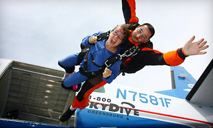 Skydive Indianapolis - Center: Tandem Skydive Jump on a Weekday or Weekend at Skydive Indianapolis in Frankfort (Up to 54% Off)