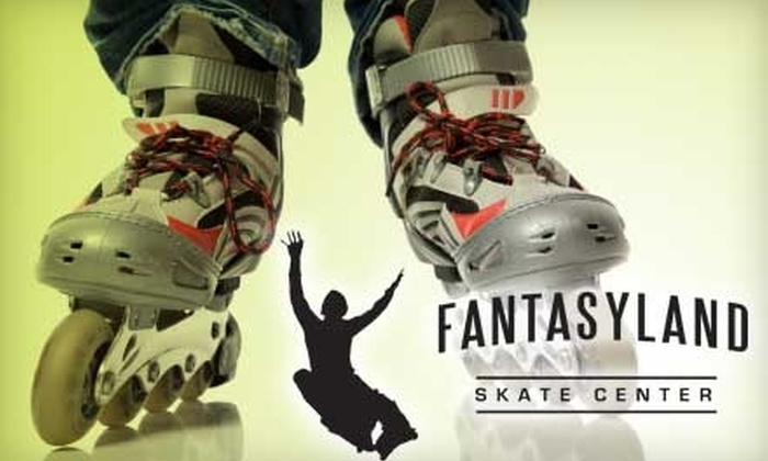 Fantasyland Skate Center - Rio Grande Valley: $20 for Four Admissions, Four Regular Skate Rentals, and Four Meal Tickets at Fantasyland Skate Center (Up to $58.40 Value)