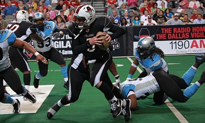 Dallas Vigilantes - Victory Park: One Lower-Level Sideline Ticket to Dallas Vigilantes Arena-Football Game. Three Games Available.