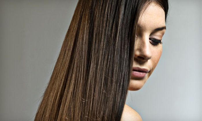Bellazza Salon and Boutique - Richland Heights East: $99 for a Keratin Complex Hair-Smoothing Therapy at Bellazza Salon and Boutique (Up to $250 Value)