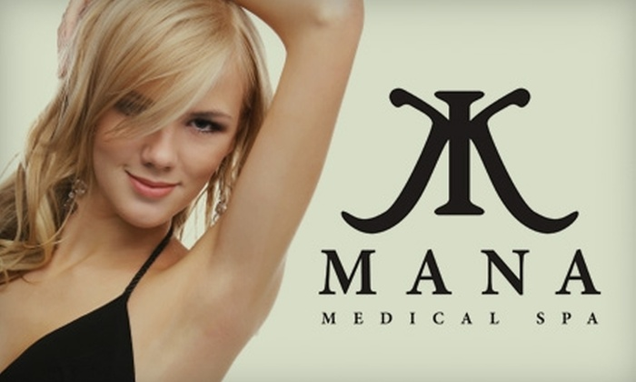 Mana Medical Spa - Jacksonville Beach: $125 for Up to Three Laser Hair-Removal Treatments at Mana Medical Spa (Up to $1,050 Value)