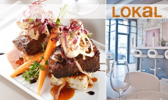 LOKaL - Wicker Park: $20 for $40 Worth of Pan-European Fare and Drinks at LOKaL