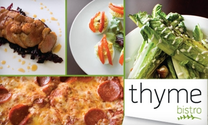 Thyme Bistro - Sea Isle Park Neighborhood Association: $15 for $30 Worth of Locally Sourced International Cuisine at Thyme Bistro