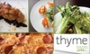Thyme Bistro (OOB) - Sea Isle Park Neighborhood Association: $15 for $30 Worth of Locally Sourced International Cuisine at Thyme Bistro