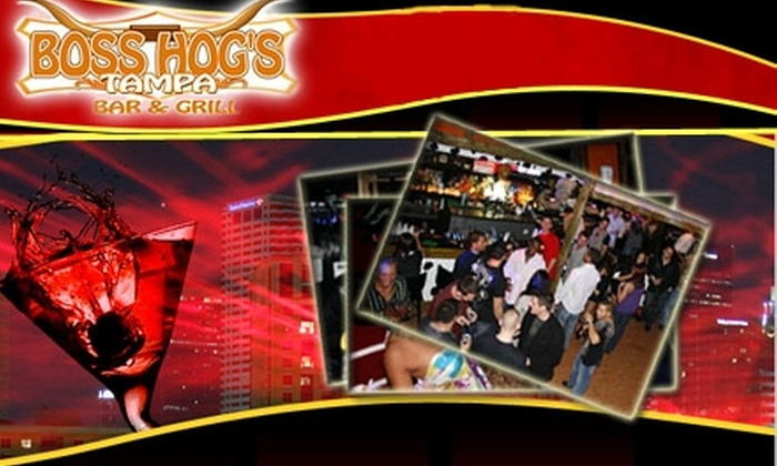 Boss Hog's Tampa Bar & Grill  - Downtown: $15 for $30 Worth of All-American Fare Plus One Free Cocktail at Boss Hog's Tampa Bar & Grill