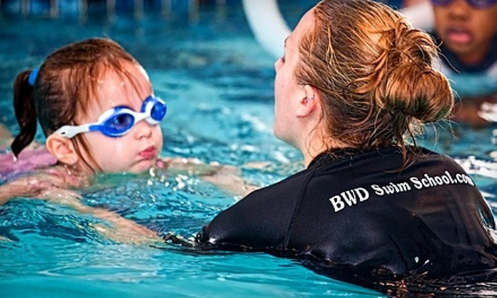 Blue Water Divers Swim School - Multiple Locations: $49 for Four 30-Minute Swim Lessons at Blue Water Divers Swim School ($100 Value)