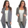 Lyss Loo Totally Striped Out Elbow Patch Cardigan