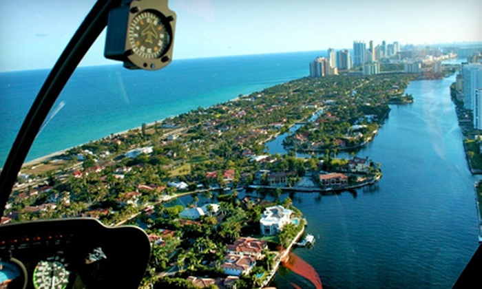 Miami Nice Tours - Hallandale Beach: $299 for South Beach Helicopter Adventure for Three from Miami Nice Tours ($600 Value)