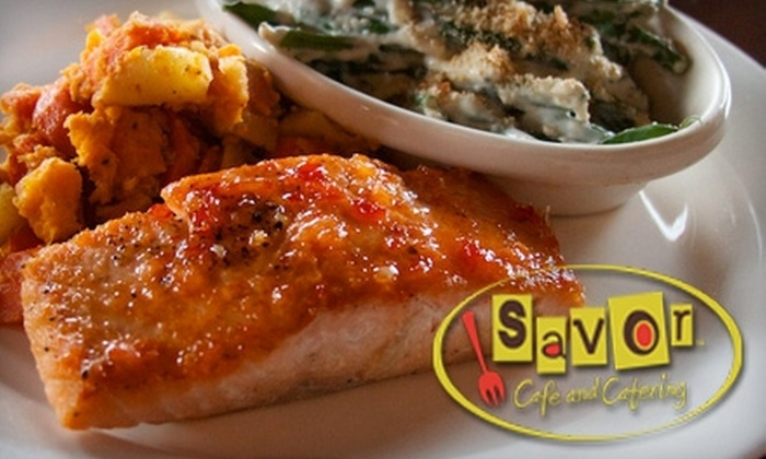 Savor Cafe - Wesley Heights: $12 for $25 Worth of Locally Sourced Lunch or Brunch Fare at Savor Cafe ($30 for Dinner)